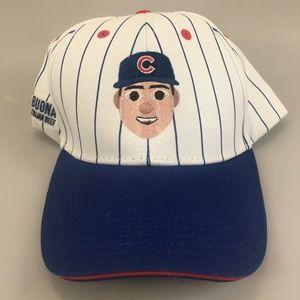 Chicago Cubs Rizzo 44 Emoji Pinstripe Baseball Cap